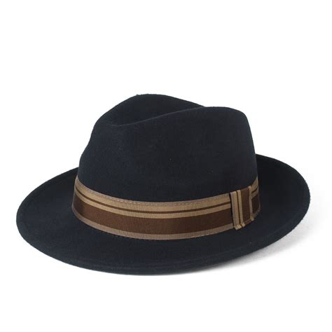 Hat Handmade - stylish 100 wool fedora hat waterproof crushable