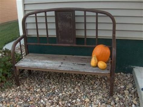 iron bed bench bench from old iron bed projects worth doing
