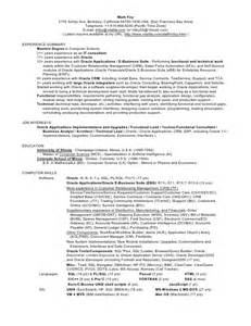 Oracle Apps Functional Consultant Sle Resume by Foy S Oracle Applications Consultant Resume Cv