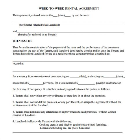 sample residential rental agreement 9 free documents in