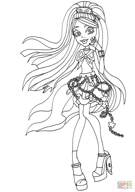 monster high gooliope coloring pages ausmalbild kiyomi haunterly ausmalbilder kostenlos zum