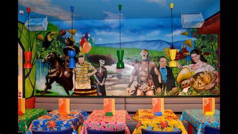 decoracion graffiti mural de restaurante mexicano de
