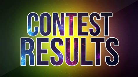 contest results contest results