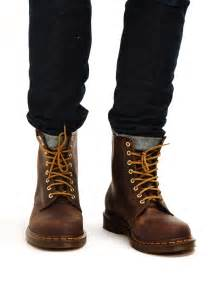 dr martens 8 eye rugged boots brown s fashion