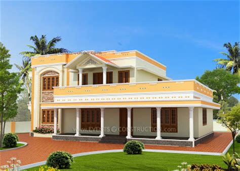 3 bed room flat roof villa with courtyard 2172 sq ft home kerala plans evens construction pvt ltd 3 bed room flat roof courtyard 2172 sq ft
