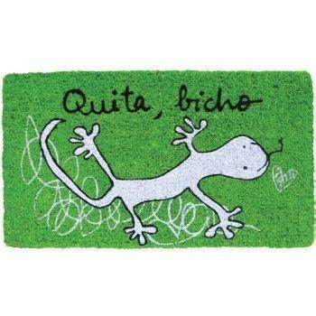 felpudo dantzaris felpudo verde quot quita bicho quot lagartija felpudos kamir
