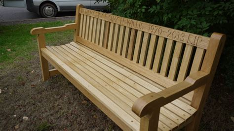 bench engraving memorial benches the wooden workshop