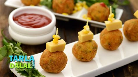 simple indian starters for a dinner क र न च ज ब ल स corn cheese balls easy