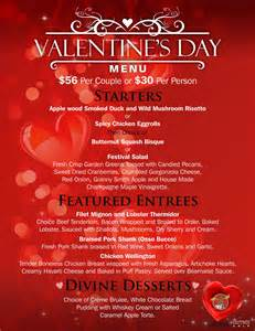 valentine s day menu at the crazy moose crazy moose