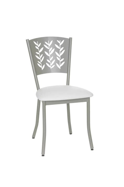 Amisco Mimosa Dining Chair W Leaf Design Back Ships And Dining Chairs For Less