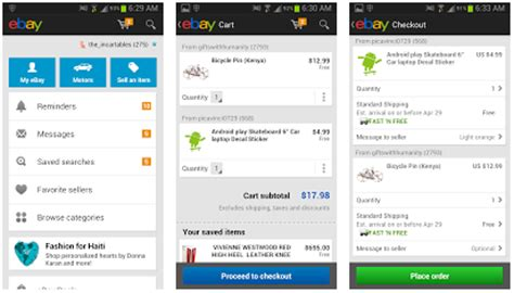 shopping apps for android ebay updates android app with new shopping cart feature and ui beginnerstech