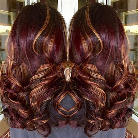 pinterest rich violets reds browns long hair red violet base with copper highlights winter inspiration