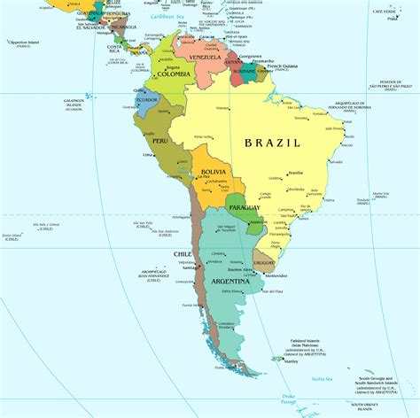 south map south america large political map large political map of