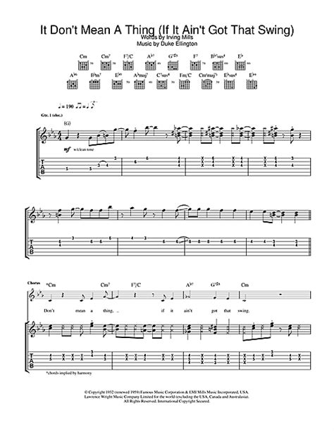 swing jazz guitar chords it don t mean a thing if it ain t got that swing guitar