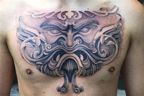 tattoo designs on chest for men chest tattoos for design ideas magment