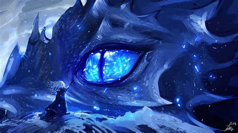 anime dragon eye full hd wallpaper