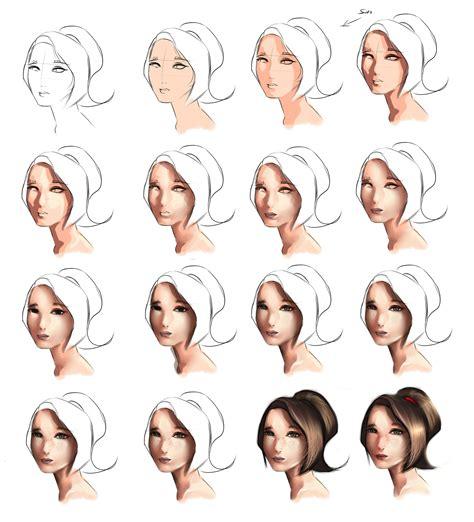 watercolor tutorial hair skin tutorial step by step by ryky on deviantart