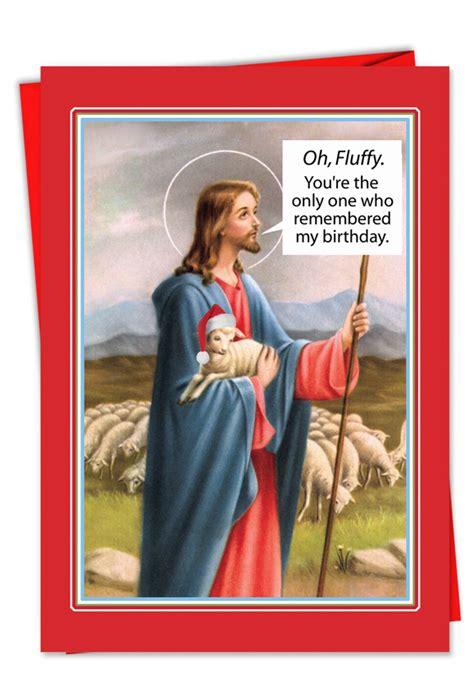 naughty fluffy christmas greeting card