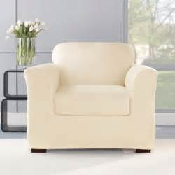 stretch plush chair slipcover contemporary