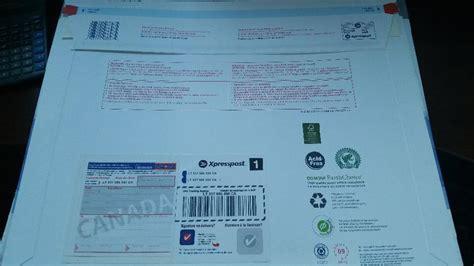 where does st go on envelope 24 prepaid regional xpresspost envelopes victoria city
