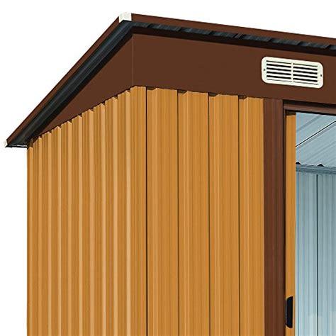 porte zincate deuba casa per attrezzi da giardino in metallo con