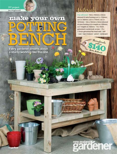 how to make your own bench how to build make your own potting bench pdf plans