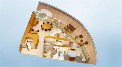 disney cruise floor plans disney cruise line staterooms 1 and 2 bedroom concierge