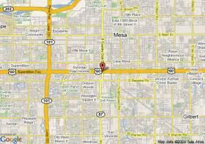 Map Of Mesa Arizona by Map Of Holiday Inn Phoenix Mesa Mesa