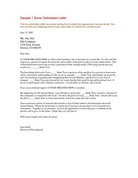 Introduction Letter To Donors Sle Solicitation Letter For Financial Support For Sles Of Thank You
