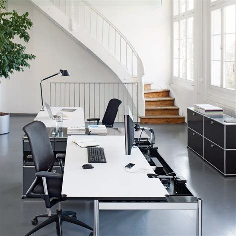 usm haller table for shared workstations home office