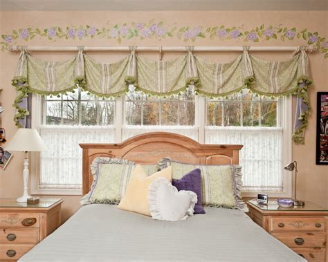 savannah valance by window works traditional bedroom