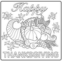 thanksgiving coloring pages for adults thanksgiving harvest corncupia thanksgiving coloring