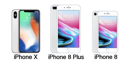specifications of iphone x iphone 8 iphone 8 plus technical details