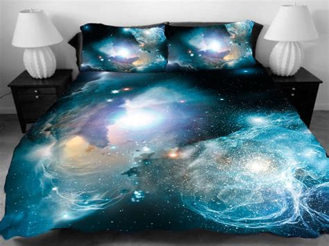 Galaxy Bedding Set by 3d Single Galaxy Duvet Cover Bedding Set Space