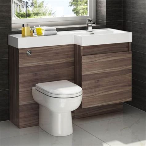 Modern Walnut Bathroom Vanity Details About Modern Walnut Bathroom Vanity Unit Countertop Basin Back To Wall Toilet Mv2740