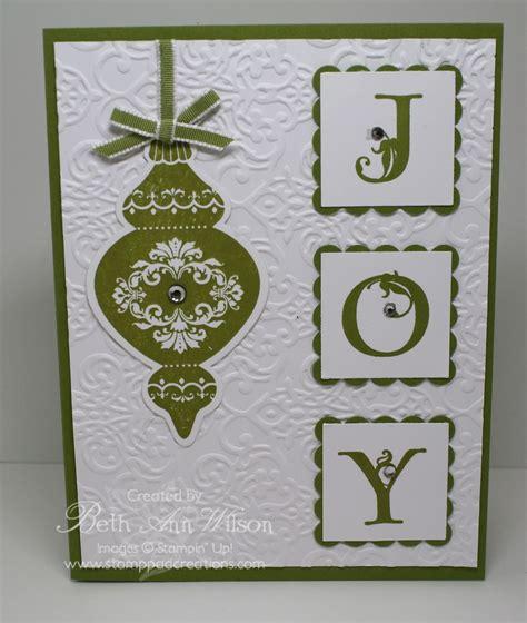 Handmade Die Cut Cards - handmade card column of three inchies spell