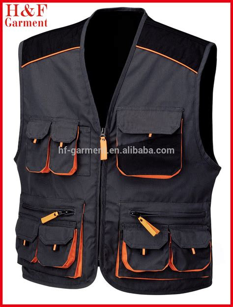 Rompi Mesh Anjing Size S Black multi pocket work vest mens workwear made of heavy duty canvas buy work vest multi pocket work
