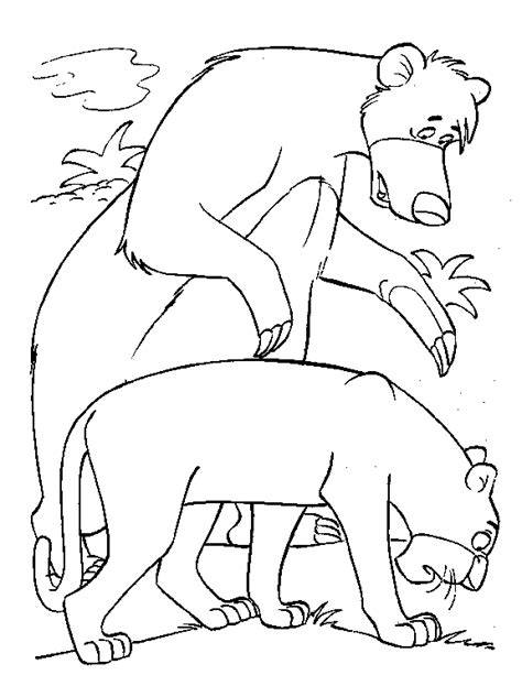 jungle cubs coloring pages 1000 images about mowgli e baloo disegni da colorare on
