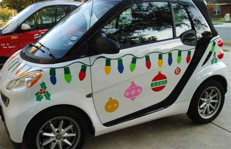best christmas decirations for car decoration for smartcar smart car forums humor
