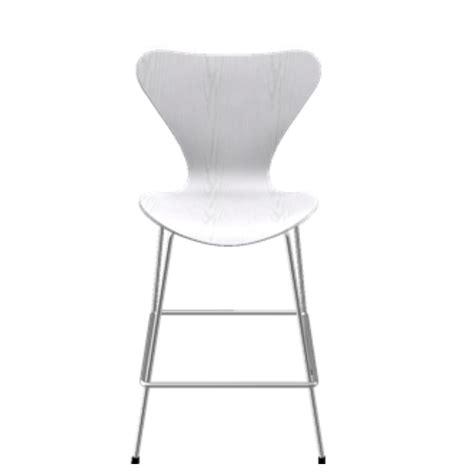 white colored stool series 7 stool arne jacobsen fritz hansen suite ny