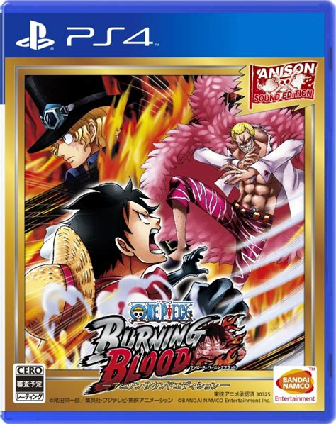 themes ps4 one piece one piece burning blood japanese anison sound edition