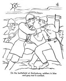 civil war coloring pages usa printables the battle of gettysburg america civil