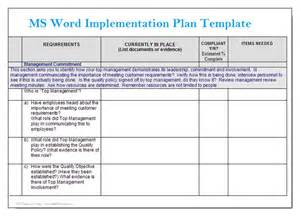 word project management template ms word implementation plan template microsoft word