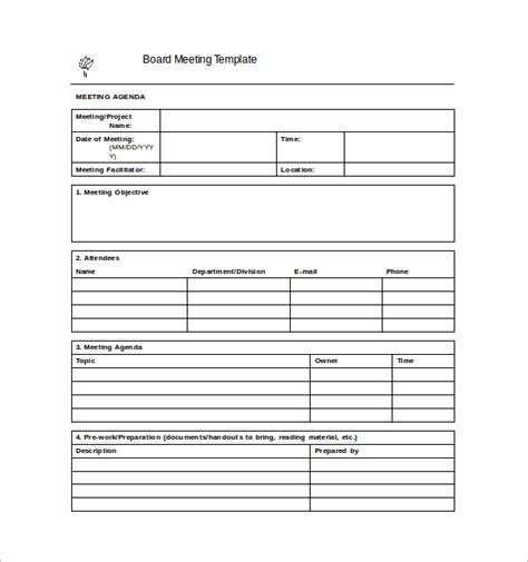 Meeting Notes Template Template Business Meeting Note Taking Template