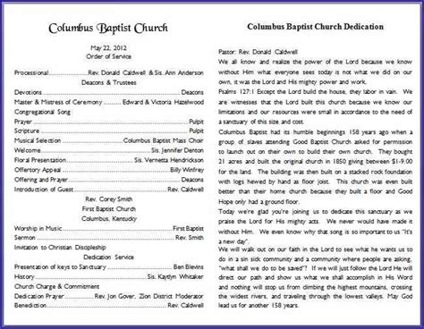 free church program templates 30 images of church program template microsoft word