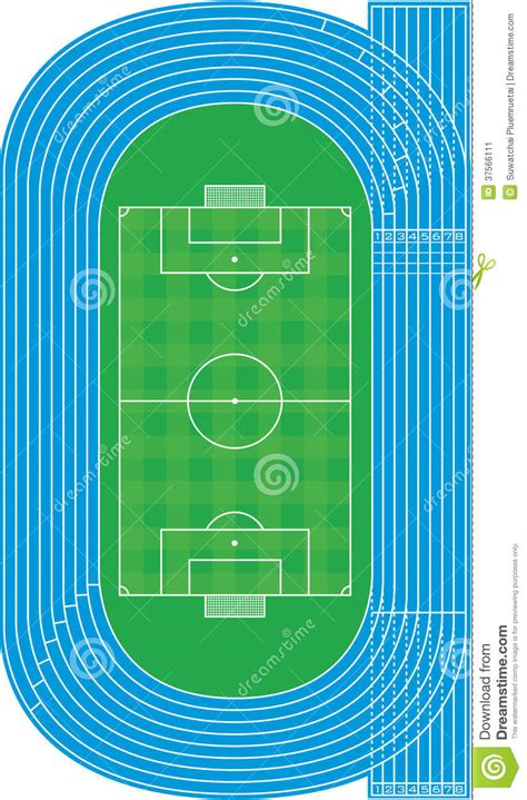 Can A Gift Card Be Traced - top view of running track and soccer field vector stock image image 37566111