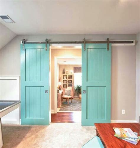 interior sliding barn door for the home pinterest turquoise barn doors home ideas pinterest