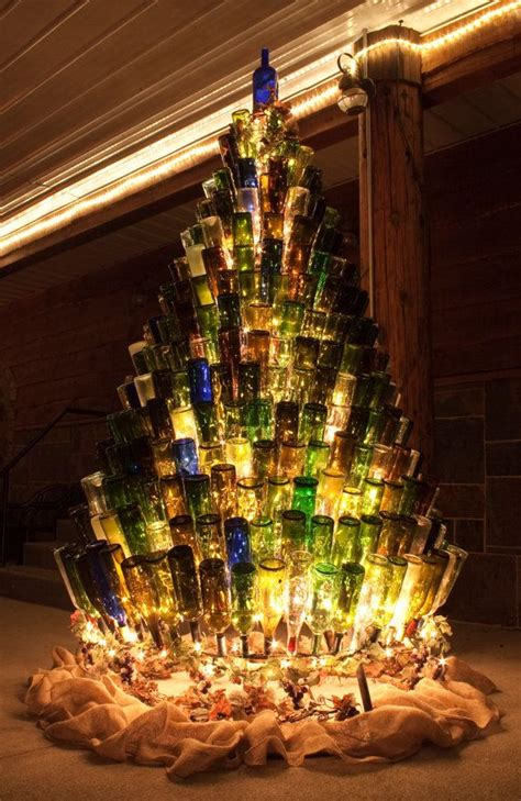 christmas tree made from wine bottles wine bottle tree stand wine bottle tree tree and bottle
