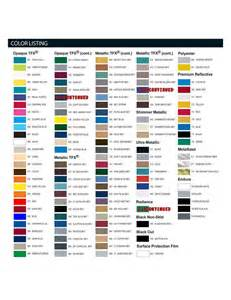 fender color chart vehicle graphics color options
