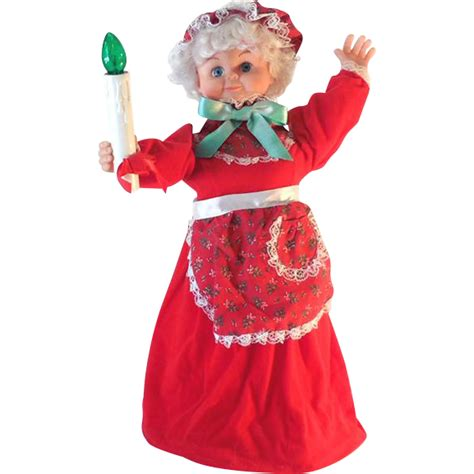 1970s rennoc animation mrs santa claus electric decoration